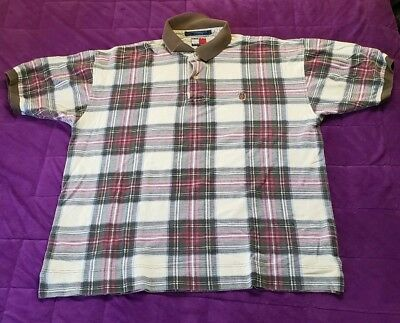 d183707e1 NWT MENS TOMMY Hilfiger Blue/White Plaid Short Sleeve Shirt Custom ...