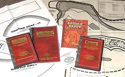 SADDLEMAKING & CHAP MAKING LIBRARY  w/ full size Patterns!  FREE SHIPPING