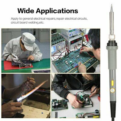 Temperature Adjust Electric Soldering Iron Kit Power Switch Soldering StatioT8