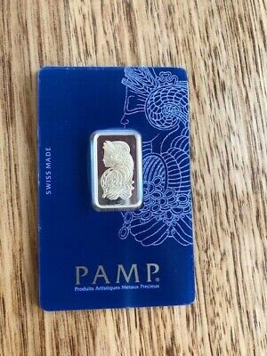 PAMP Suisse Fortuna 10g Gram Fine Gold Bar Bullion 999.9