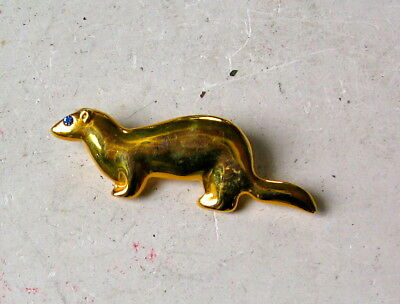 Ferret Gold Colored  Lapal Pin