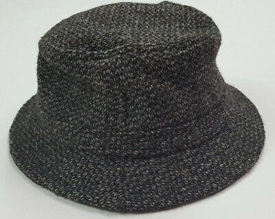 28b1833a7a5 Vintage LL Bean Harris Tweed Gore Tex USA Made Weather Proof Wool Bucket Hat  S