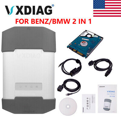 VXDIAG VCX Diagnostic Tool For BMW & BENZ 2 in 1 With 1TB HDD Shipping From USA