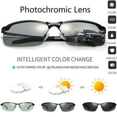 Photochromic Polarized Sunglasses Goggles Men Driving Fishing Transition Glasses