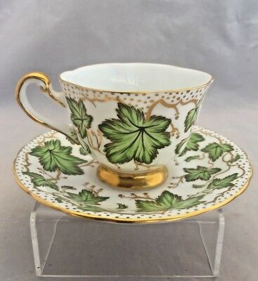 Royal Chelsea Cup and Saucer Green Ivy
