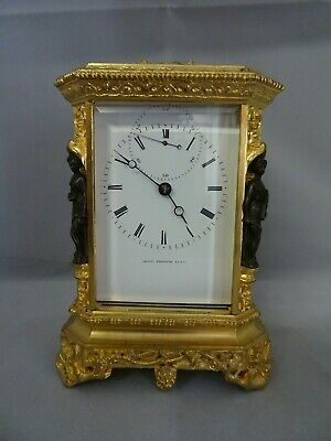 french carriage clock JAPY  cariatides Rococo 1835