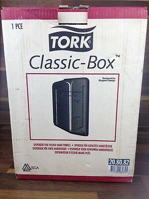 TORK Classic Box Hand Paper Towel Tissue Wall Dispenser New Boxed Black