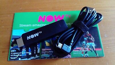 Brand new - Now TV Smart stick and USB cable wifi bbci Netflix youtube NO REMOTE