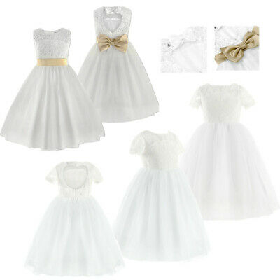Flower Girl Kids Princess Dress Lace Pageant Wedding Bridesmaid Birthday Party
