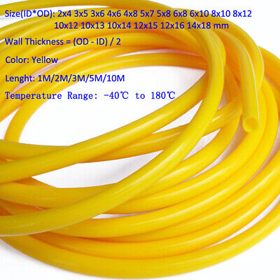 Silicone Rubber Vacuum Hose Food Grade Tube Pipe Fish Car Aquariums Air - Yellow