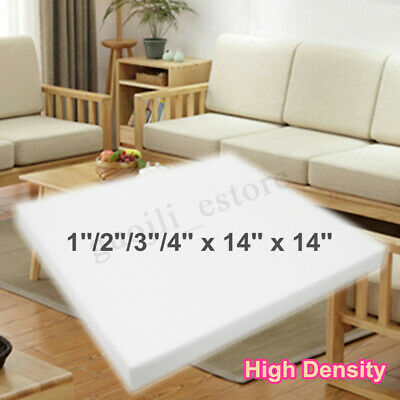 14'' Square High Density Seat Foam Sheet Upholstery Cushion Replacement Firm