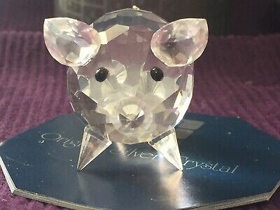 b60b915b7 Swarovski Pig Medium #7638 NR50 Silver Crystal Full Lead Original Box Mint  PS