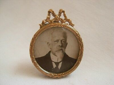 AMAZING ANTIQUE FRENCH  MINIATURE BRASS PHOTO FRAME,LOUIS XVI STYLE,LATE 19th.