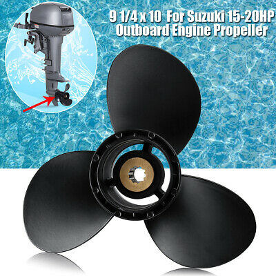 Aluminum Alloy Outboard Engine Propeller 9 1/4x10 Pitch For Suzuki Prop 15-20HP