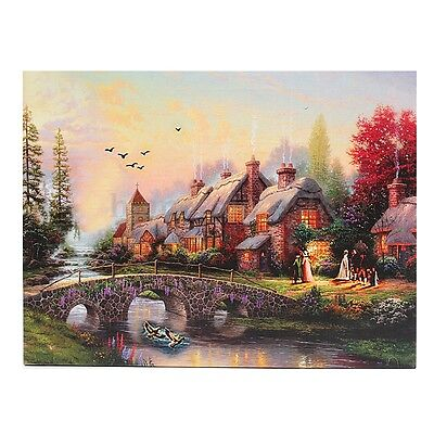 LED Luminous Country Scenes Canvas Art Lighted Painting Print Wall Home