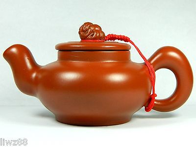 Chinese Yixing Zisha Pottery Teapot/Tea Pot,Red Clay,Carved Son of Dragon,140 cc