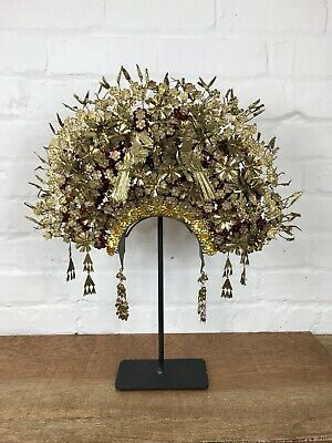 Antique Suntiang Sumatran Headdress Ceremonial Crown Vintage Decorative Tiara