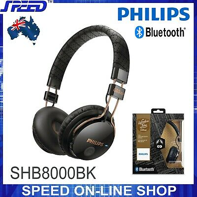 PHILIPS SHB8000BK/00 Wireless Noise Isolating On-Ear Bluetooth Headphones -Black