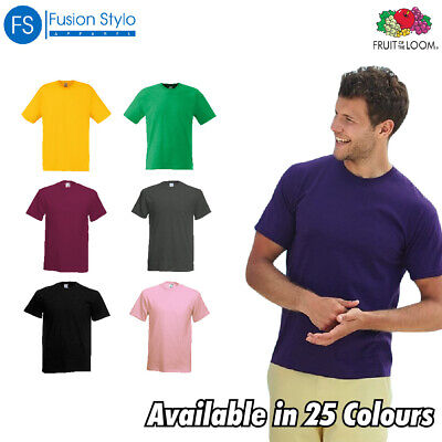Fruit of the Loom MEN'S T-SHIRT COTTON PLAIN TEE SIZES S-5XL NEW COLOURS SS12