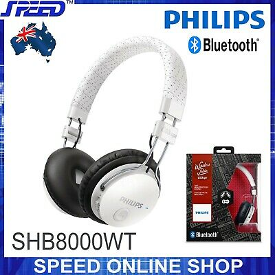 PHILIPS SHB8000BK/00 Wireless Noise Isolating On-Ear Bluetooth Headphones -White