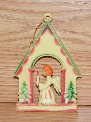 Vintage Style Praying Angel House Holiday Christmas Tree Ornament **READ**