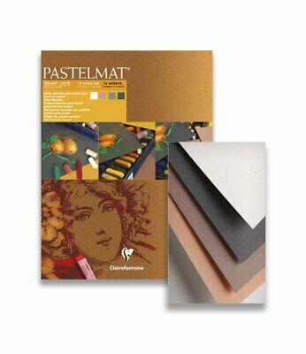 Pastelmat Pastel Sketch Pad Art Paper Assorted Colours  Clairefontaine 12 Sheets