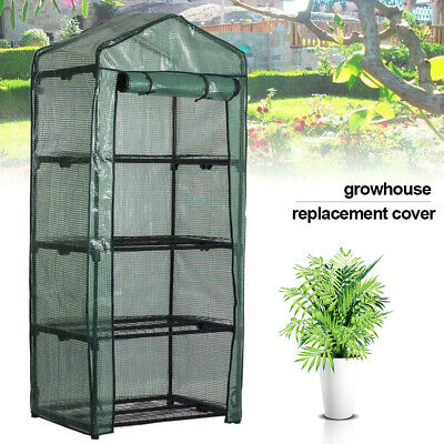 4 Tier Mini Replacement Greenhouse Covers Walk In With Reinforced Cover Plastic
