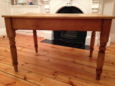 Antique Victorian farmhouse dining table - full of character
