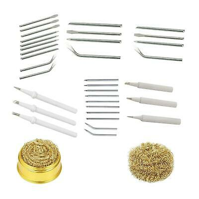 Soldering Iron Tips Replacement Spare Accessories Kits Electrical Cleaning Sets