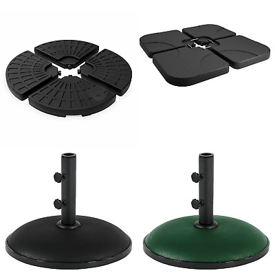 Umbrella Plastic Parasol Base Sand Water Filled Stand 11kg Round Concrete Weight