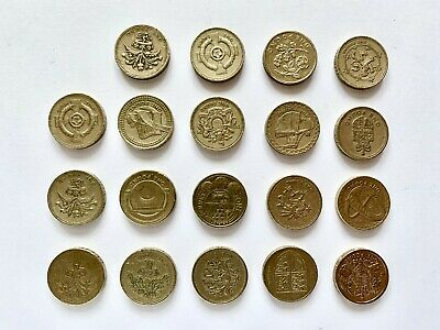GBP £1 RARE One Pound Coins UK Coin Hunt (Assorted Collection - Low Circulation)