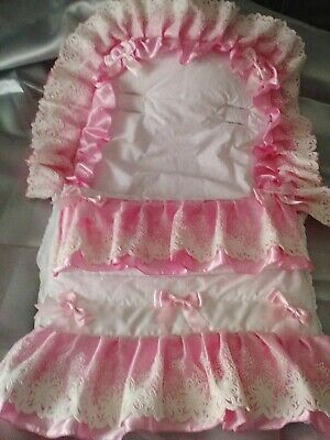 Frilly pram cosy toes