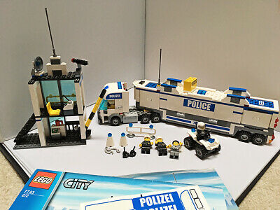 Lego 7743 City Mobil Police Command Center Complete With Manuals