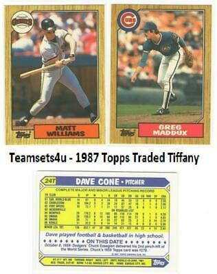 1987 Topps Traded Tiffany Baseball Set Pick Your Team See Checklist