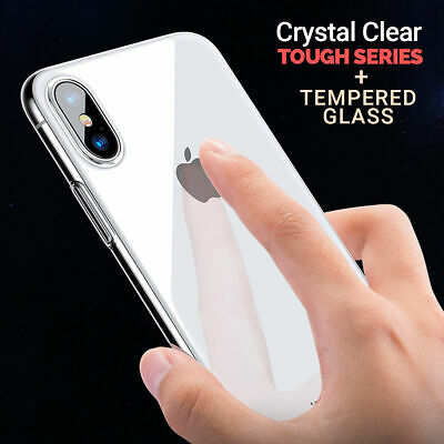 CLEAR Case For iPhone X / XS Cover Shockproof 360 Silicone Gel Protective TOUGH
