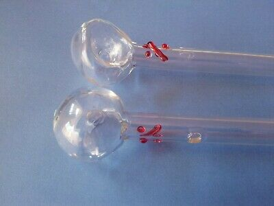 Smoking Glass Pipe ,,Red  %''  Free delivery!!
