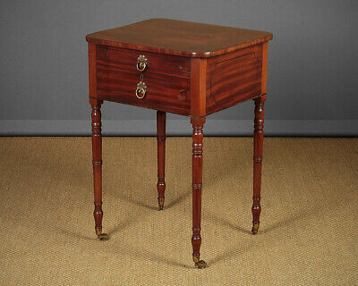 Small Antique Side Table with Drawers c.1840.