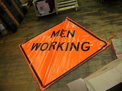 "Bone Safety Signs ""Men Working"" 48 X 48"" Non-Reflective New"