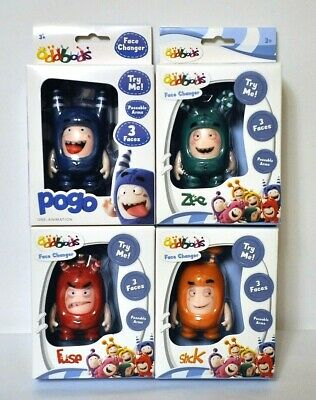 Set of 5 figure with changing emotions Oddbods 8,5 cm poseable arms 3 faces