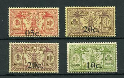 New Hebrides French 1920-21 SGF 34/37 MLH cat £69