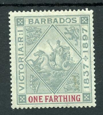 Barbados 1897-98 Diamond Jubilee ½d on blued paper SG125 fine MLH