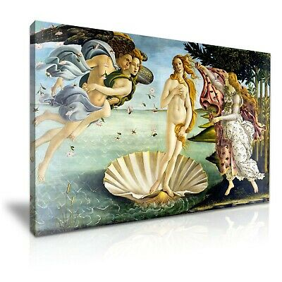 The Birth of Venus Sandro Botticelli Painting Canvas Wall Art Print 76x50cm