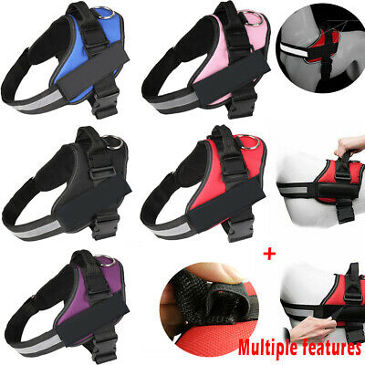 Strong Adjustable Soft Padded Non Pull Dog Harness Pet Puppy Vest & Reflective