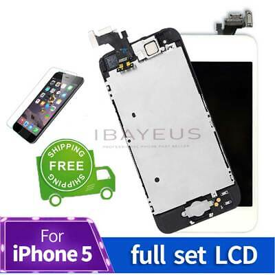 LCD For iphone 5 Display Full Assembly Digitizer Touch Screen Replacement button