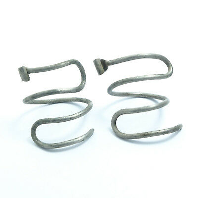 ANCIENT SILVER VIKING WIRE EARRINGS,Temple ring, Hair ring (02)