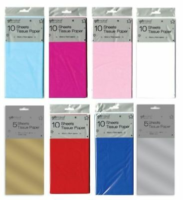 Coloured Tissue Paper Sheets Acid Free 50x70cm Large Luxury Plain Gift Wrapping