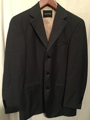 Nautica Mens 38R Sports Coat Wool Blazer Suit Jacket EUC