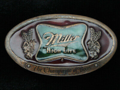 Qh07124 Vintage 1975 **Miller High Life The Champagne Of Beers** Belt Buckle