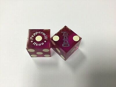 Beautiful Pair of PEPPERMILL RENO CASINO  Nevada dice matching numbers 111