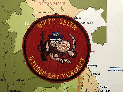 PATCH , US Army 2-17 2nd Squadron 17th  , Cavalry Delta Troop , Vietnam PATCH